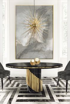 Dining room furniture ideas that are going to be one of the best dining room design sets of the year! Get inspired by these dining room lighting and furniture ideas! Luxury Dining Room, Elegant Dining Room, Dining Room Lighting, Dining Rooms, Dining Chairs, Ceiling Lighting, Hallway Lighting, Room Chairs, Dining Table Design