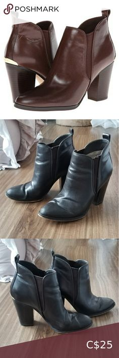 Michael Kors Brandy Booties Classy pair of ankle boots! Decent preloved condition - there's some minor scuffing at one of the toes and on the heels, and some scratches on the gold hardware in the back. They still have lots of life left in them (they're just a bit too narrow for my feet).  Open to offers! MICHAEL Michael Kors Shoes Ankle Boots & Booties Michael Kors Black Boots, Michael Kors Wedges, Fringe Ankle Boots, Black Ankle Boots, Suede Booties, Bootie Boots, Lace Pumps, Wedge Boots, Gold Hardware