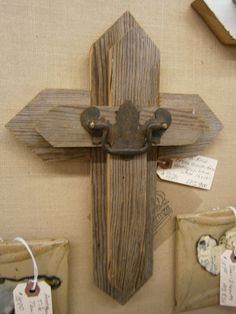 Rustic Cross made from Vintage Barn Wood. $125.00, via Etsy.......pallet wood project???