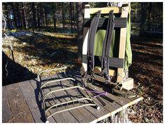 Wooden frame for a Swedish LK35 backpack