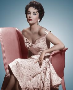 Elizabeth Taylor in Pink Lace....the beauty on the outside is stunning, but I believe she was beautiful inside as well and a force to be reckoned with, which I also admire!!