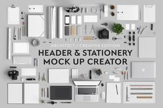 Check out Header & Stationery Mock Up Creator by Qeaql on Creative Market