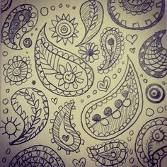 #10MinutePostIt by committedgifts. Paisley sketch.