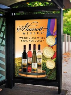 Make your winery larger on posters & billboards. Cool Magazine, Magazine Ads, Ad Design, Graphic Design, Billboard Design, Whiskey Bottle, Wines, Posters, Frame