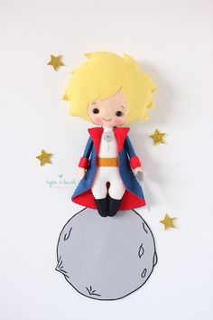 The Little Prince Plush Doll, Little Prince Nursery Decor, Little Prince stuffed toy, Birthday Baby Shower Gift, Boys Room Decor - Любовь - Prince Nursery, Hello Kitty Tattoos, Human Doll, Baby Room Diy, Hello Kitty Birthday, Hello Kitty Wallpaper, Felt Decorations, The Little Prince, Boy Doll