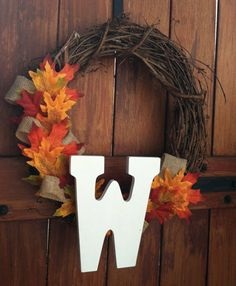 Rustic Fall Wreath with Burlap and Flowers from Pink Slip Inspiration