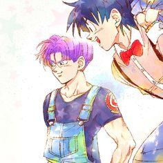 Goten e Trunks Dragon Ball Z, Manga Anime, Anime Art, Goten E Trunks, Mirai Nikki Future Diary, Dragon Images, Son Goku, Cool Cartoons, Sketches