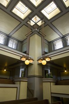 Unity Temple in Oak Park, Chicago 1905 Unitarian Universalist church designed by Frank Lloyd Wright, where he was also a congregant.