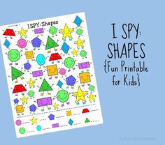 I SPY Printable for Kids: Shapes   School Time Snippets