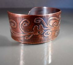 Lovebirds Handmade Etched Copper Cuff Bracelet Tree of Life #CB1221 Size Small/Medium, 123team