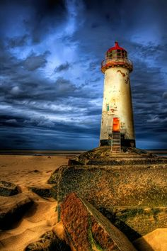 """""""The abandoned Lighthouse at Point of Ayre, Talacre Beach, Flintshire, North Wales, UK."""""""