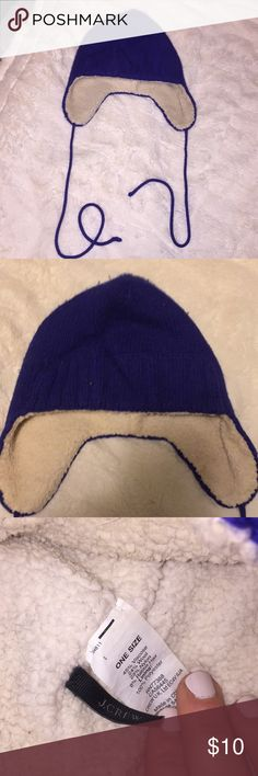 e84ab9d968b72 Trapper hat J.Crew trapper hat. Lined in soft Sherpa. Very warm.