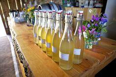 Blossom Bells - wedding in the woods - homemade elderflower champagne