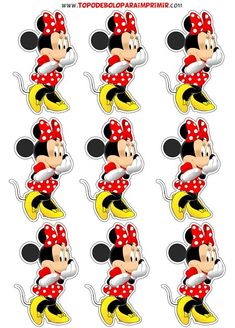 Topo de Bolo para Imprimir, mais de 350 topos de diversos temas para embelezar o seu bolo e a sua festa. Theme Mickey, Minnie Mouse Theme, Mickey Mouse Birthday, Minnie Baby, Mickey Y Minnie, Bolo Minnie, Mickey Mouse E Amigos, Mickey Mouse And Friends, Minnie Mouse Party Decorations