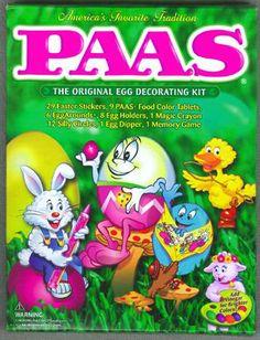 15 Best Vintage PAAS Egg Decorating Kits #TBT images | Egg ...