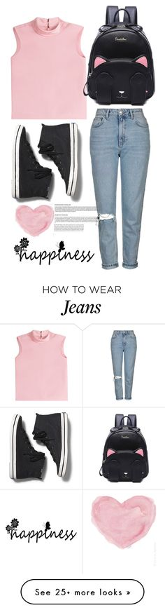 """""""jeans!!"""" by newbee3 on Polyvore featuring RED Valentino, Topshop, French Country and Keds"""