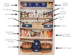 Then employ bins in your pantry, too. 16 Smart Dollar Store Ideas To Declutter Your Kitchen Kitchen Cabinet Organization, Kitchen Organization, Organization Hacks, Organizing Tips, Organising, Organizing Drawers, Kitchen Storage, Pantry Makeover, Ideas Para Organizar
