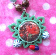 Akira Psychedelic Anime Pill Cameo Necklace by hobbittownjewelry