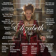 Get to know Queen Elizabeth before her battle with Mary begins TONIGHT at 8/7c. #Reign