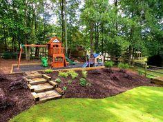 Leveling A Sloped Yard Backyard Slope Landscaping Ideas Ideas For Landscaping A Hill Landscape Ideas For Steep Backyard Hill Steep Backyard, Sloped Backyard Landscaping, Landscaping On A Hill, Sloped Yard, Landscaping Supplies, Backyard For Kids, Landscaping Ideas, Backyard Ideas, Garden Ideas