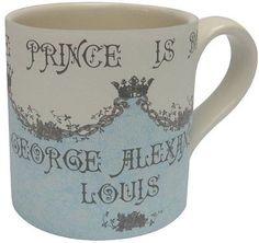 BURLEIGH POTTERY ROYAL BABY /'PRINCE GEORGE OF CAMBRIDGE/' MUG BIRTH 2013 NEW