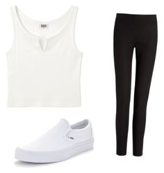 """""""Black and white"""" by ashleejosias23 on Polyvore featuring Joseph and Vans"""
