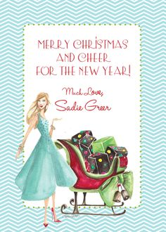 Fashion Illustrated Christmas Card | Available at www.carriebethtaylor.com  Fashion Illustrator Carrie Beth Taylor
