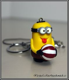 Handmade despicable me minion playing with ball (Free Shipping worldwide)