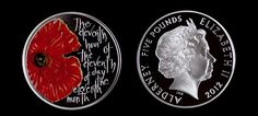 Landmark: Both sides of the Royal Mint's first commemorative £5 coin for Remembrance Day