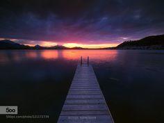 Lake Hopfensee by ausserferner  bavaria germany hopfensee lake michael boehmlaender sunset Lake Hopfensee ausserferner
