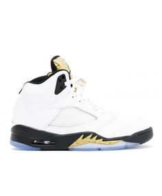 0a240a4ea65 Air Jordan 5 Retro Olympic Gold White Black Mtlc Gold Coin 136027 133 Nike  Air Jordan