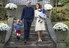 Prince George, Prince William, Princess Kate, Princess Charlotte. Canada 2016