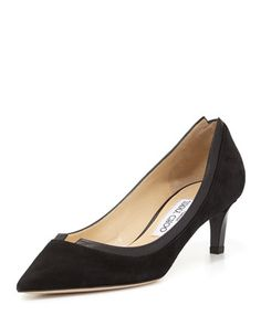 Imogen Pointed-Toe Kitten-Heel Pump, Black by Jimmy Choo at Neiman Marcus.