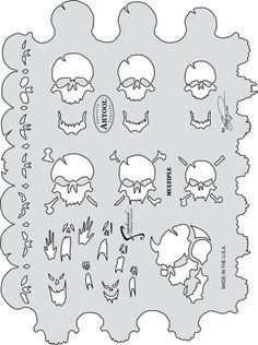 artool freehand airbrush templatess skull master the multiple