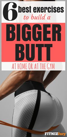 Stop wasting time on squats. Do these 6 exercises to grow a bigger butt in just a few weeks. Sample workout included for home or gym.