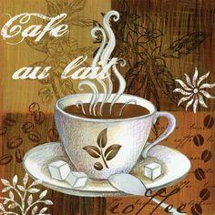 Coffee Break Cafe Au Lait by Elena Vladykina