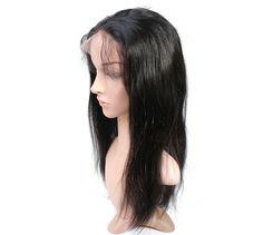 Full Lace 6A Brazilian Virgin Human Hair Straight Wigs For Women