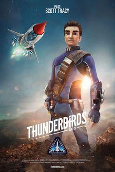 Thunderbirds Are Go, Season 2 – Scott Tracy (voiced by Rasmus Hardiker) ITV Thunderbird 1, Timeless Series, Thunderbirds Are Go, 60s Tv, Classic Sci Fi, Sci Fi Tv, Retro Futuristic, Lost In Space, My Childhood Memories