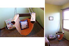 Reading Nook Hanging Chair - Sugar Bee Crafts - step by step tutorial - Bildanleitung