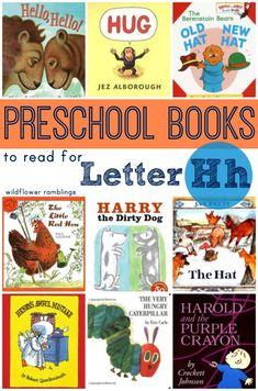 preschool books for the letter h - wildflower ramblings