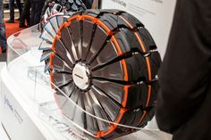 Radical concept tires morph to handle any terrain. The treads can expand like a blowfish to dig into steep, rough, loose terrain.