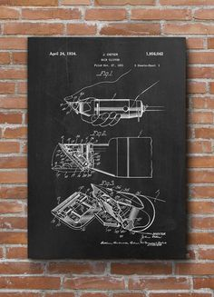Hair Clipper Patent Print Hair Clipper Patent Hair by dalumna