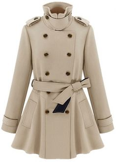 Laconic Double Breasted Turndown Collar Autumn Trench Coat on sale only US$26.90 now, buy cheap Laconic Double Breasted Turndown Collar Autumn Trench Coat at martofchina.com
