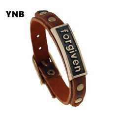 YNB 2016 new hot European retro alloy forgiven Leather Bracelet accessories for men and women on behalf of a