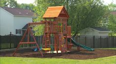Amazing Outdoor Playset Installation And Safety Tips 31 Big Backyard Playsets Accessories Outdoor Playset, Outdoor Games, Outdoor Gear, Outdoor Play Structures, Outdoor Play Equipment, Swing And Slide, Backyard Play, Backyard Ideas, Jungle Gym