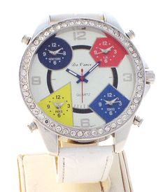 75237224364 80% off Sale Five Time Zone big face watches at Dual-Time-Watches