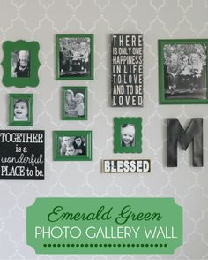Emeralf Green Photo Gallery Wall { lilluna.co }