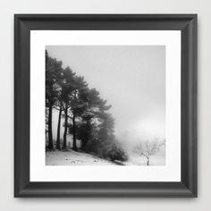 Five trees Framed Art Print by Guido Montañés - $37.00