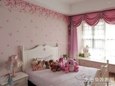 Warm pink childrens room decoration effect figure 2014 2016