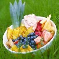 Marinoituja marjoja ja hedelmiä